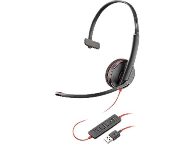 Plantronics Blackwire C3210 Headset - USB Type A - Over-the-head - Black