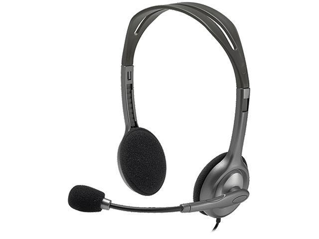 6b8ce6d7f8d Logitech Stereo Headset H111 - Stereo - Mini-phone - Wired - 32 Ohm - 20 Hz  - 20 KHz - Over-the-head - Binaural - Supra-aural - 5.91 Feet Cable