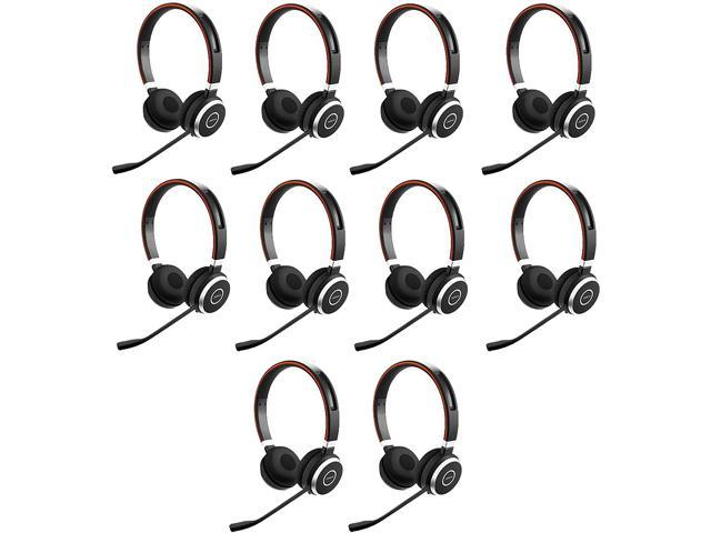 Jabra Evolve 65 Ms Bluetooth Wireless Stereo Headset With Bt Usb Transmitter 10 Pack 6599 823 309 K Newegg Com