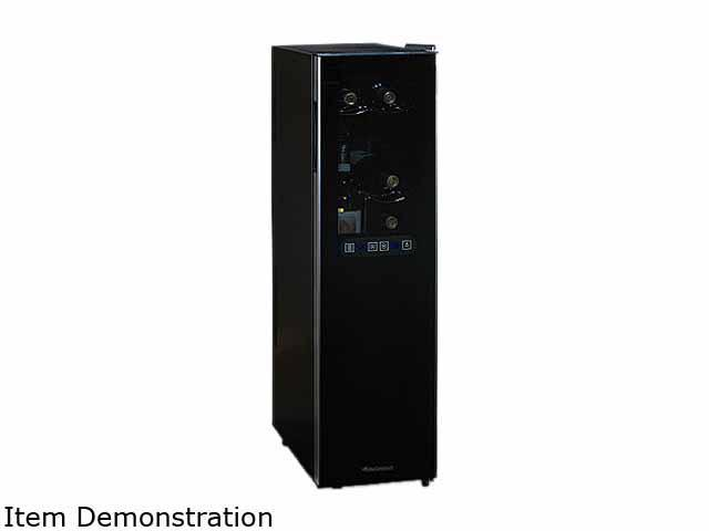 Wine Enthusiast Silent 18 Bottle Dual Zone Refrigerator Slimline With Uprig