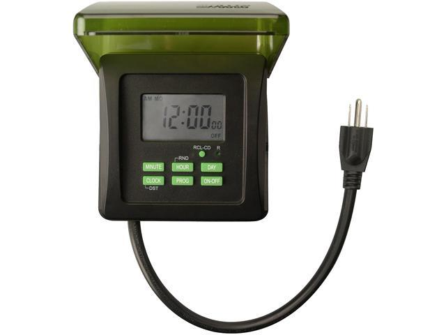 Southwire Woods 50015 Outdoor 7-Day Heavy Duty Digital 2-Outlet ...