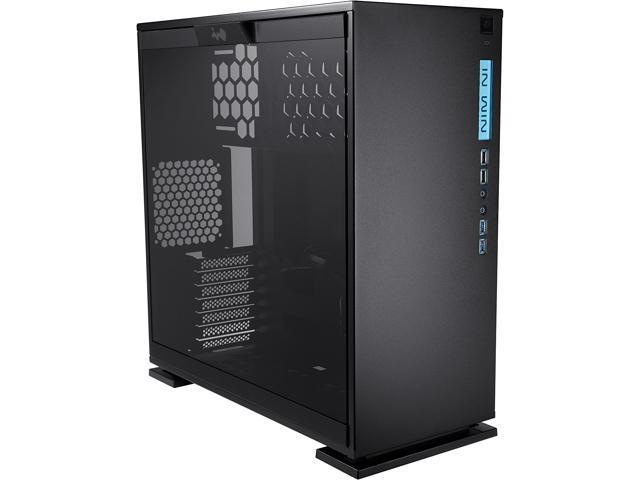 In Win 303 Black SECC Steel/Tempered Glass Case ATX Mid Tower, Dual Chambered/High Air Flow