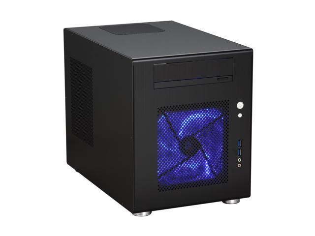 LIAN LI PC-Q08B Black Aluminum Mini-ITX Tower Computer Case