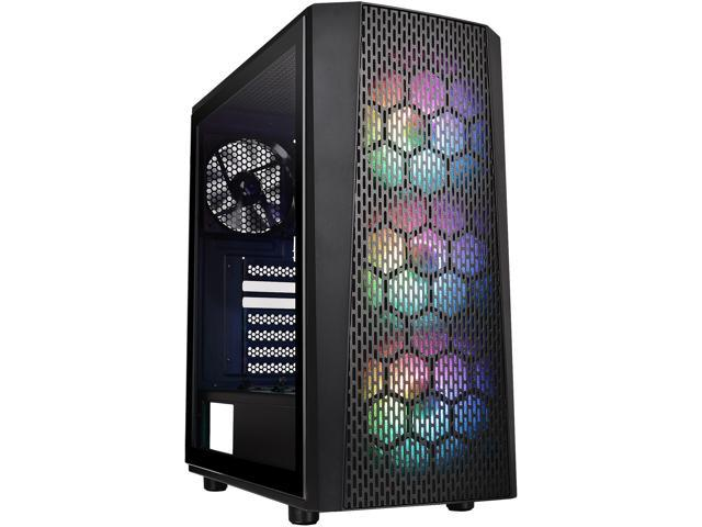 Thermaltake Versa J24 Tempered Glass ARGB Edition 5V MB Sync Capable Mid-Tower Chassis CA-1L7-00M1WN-03