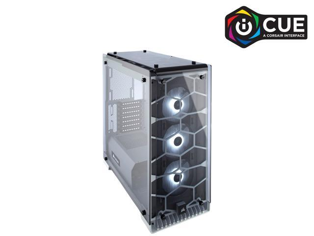 CORSAIR Crystal 570X RGB Tempered Glass, Premium ATX Mid Tower Case, White, CC-9011110-WW
