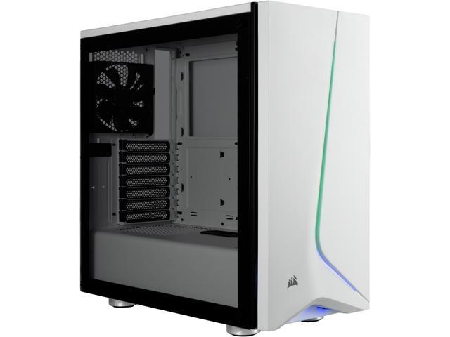 Corsair Carbide Series SPEC-06 RGB CC-9011147-WW White Steel / Plastic / Tempered Glass ATX Mid Tower Computer Case