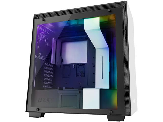 NZXT H700i - ATX Mid-Tower PC Gaming Case - CAM-Powered Smart Device - RGB and Fan Control - Tempered Glass Panel - Enhanced Cable Management System - Water-Cooling Ready -  White/Black