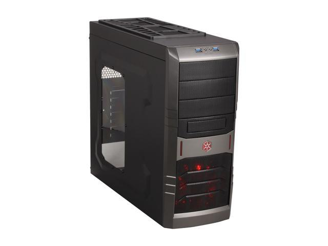 SilverStone SST-RL01B-W-USB 3.0 Black Steel / Plastic ATX Mid Tower Computer Case with Side Panel Window