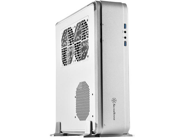 SilverStone Fortress Series SST-FTZ01S-E Silver Aluminum unibody frame, steel chassis Mini-ITX Computer Case