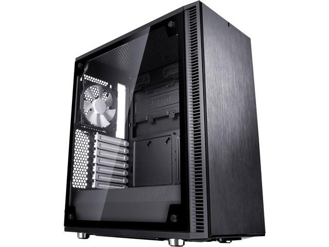 f7e589726bcf Fractal Design Define C TG Black Tempered Glass Window Silent Compact ATX  Mid Tower Computer Case