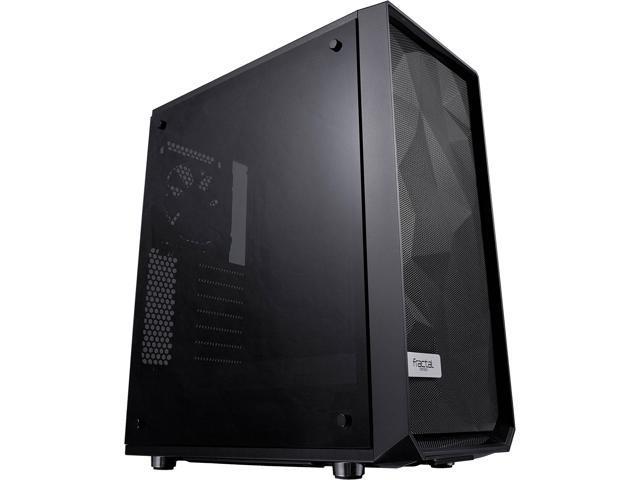 Fractal Design Meshify C Black ATX High-Airflow Compact Dark Tint Tempered Glass Window Mid Tower Computer Case
