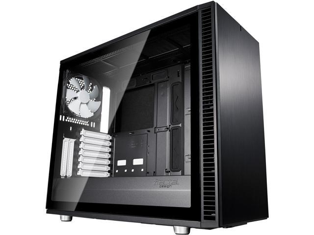 Fractal Design Define S2 Black Brushed Aluminum/Steel ATX Silent Modular Light Tint Tempered Glass Window Mid Tower ...