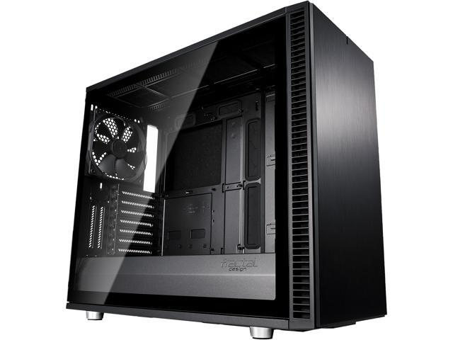 Fractal Design Define S2 Blackout Brushed Aluminum/Steel ATX Silent Modular Light Tint Tempered Glass Window Mid Tower ...