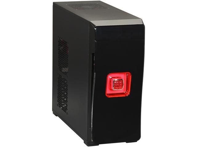 DIYPC MiniQ7-B USB 3.0 w/Dual Red Fans Black SECC ATX Mini Tower