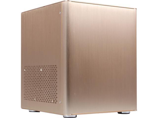 DIYPC HTPC-MiniCube-Gold Gold Aluminum Mini-ITX Tower Computer Case