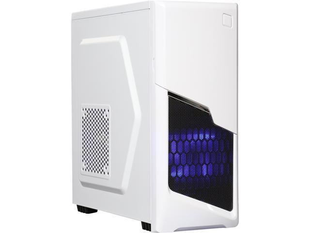DIYPC P48-W White SECC ATX / Micro ATX Mid Tower Computer Case w/