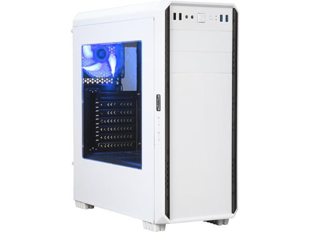 DIYPC J180-W White Dual USB3.0 ATX Mid Tower Gaming Computer Case w