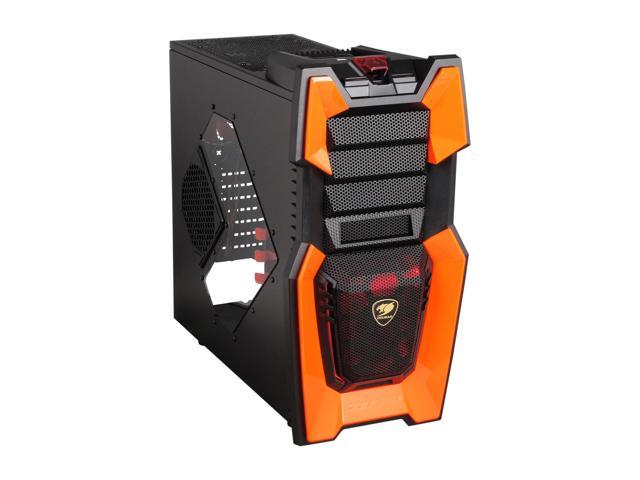 d61a23c4ce41a COUGAR Orange Challenger Black Steel ATX Computer Case with 12cm COUGAR  TURBINE HYPER-SPIN Bearing