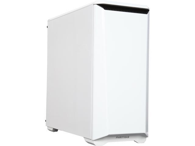 Phanteks Eclipse P400S Series PH-EC416PSC_WT Glacier White Steel Silent Close Window ATX Mid Tower Cases with 10 Color RGB Downlight