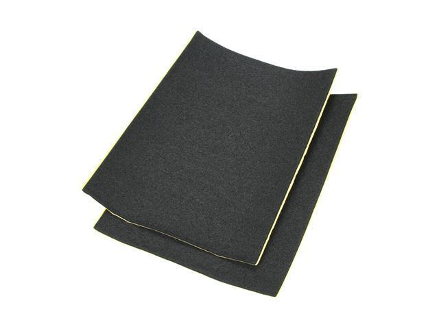 "SilverStone Silent Foam SF01, Sound Dampening Acoustic EP0M Foam Material, Black, 21""x15"", 4mm thick, 2 pcs"