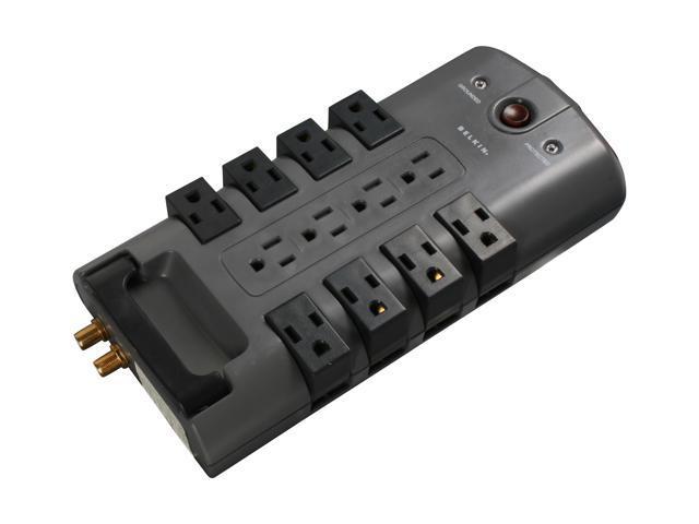 belkin bp112230-08 8 feet 12 outlets 4320 joules pivot-plug surge protector