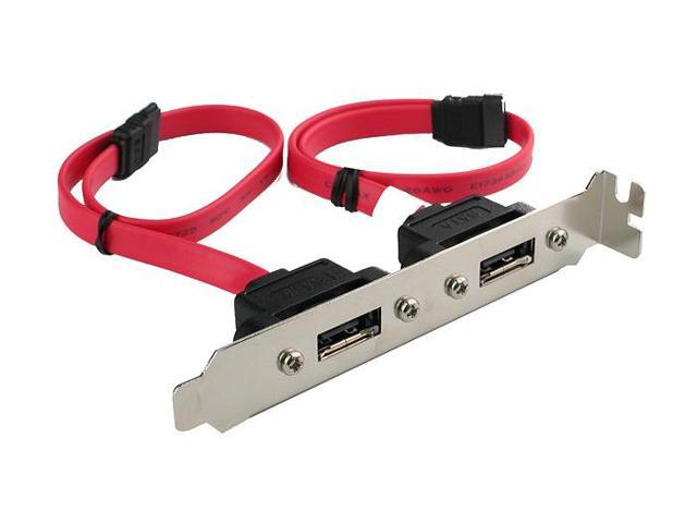 Rosewill RC-202 Internal SATA to eSATA II External 2Port Host Bracket Cable 11""