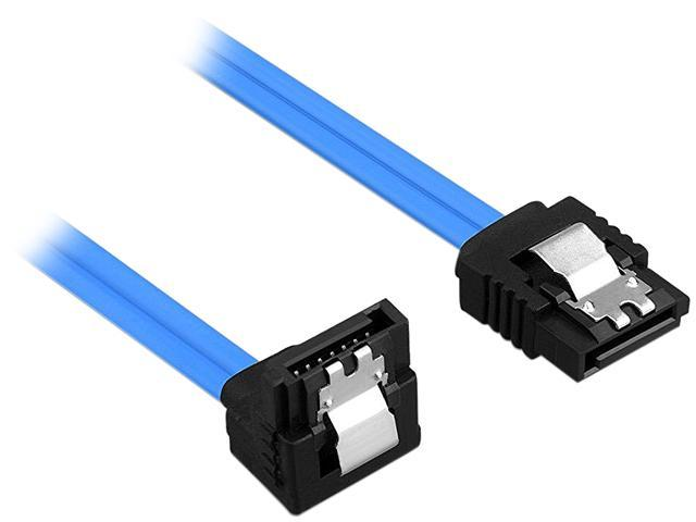 Rosewill Sata Cable 90 Degree Right Angle Iii 6 0 Gbps 12 Inches