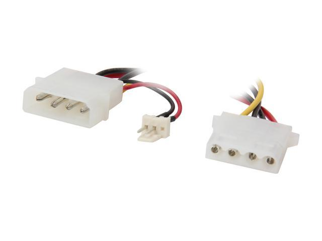 apevia cvt43 power 4 pin adapter to 3 pin fan adapter