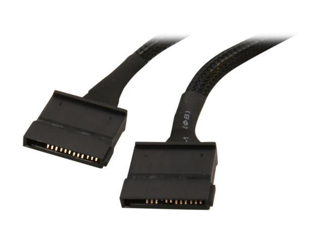 APEVIA 4-Pin Molex to 2 SATA Cable CVT425