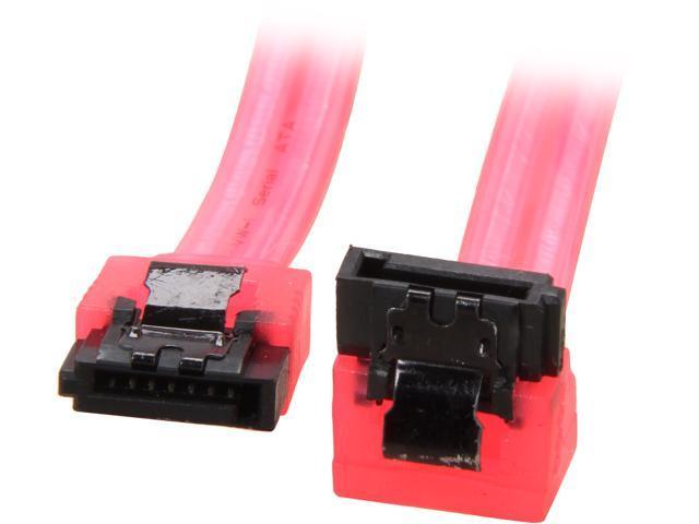 "Coboc Model SC-SATA3-18 18/"" SATA III 6Gb//s Data Cable,Red"