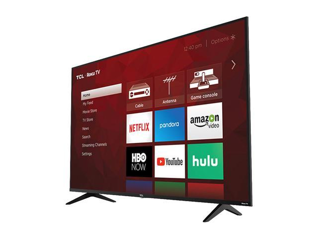 "TCL Class 5-Series 55"" 4K UHD HDR Dolby Vision ROKU Smart TV 55S517"