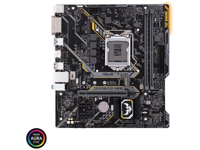 ASUS TUF H310M-PLUS GAMING LGA 1151 (300 Series) Intel H310 SATA 6Gb/s Micro ATX Intel Motherboard