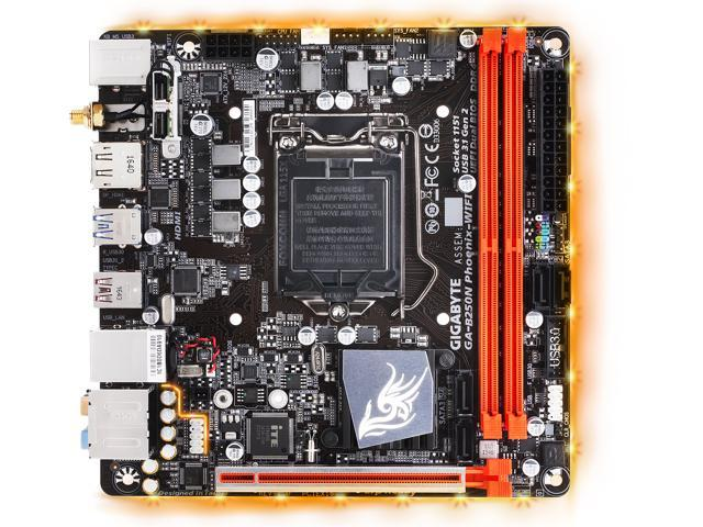GIGABYTE GA-B250N-Phoenix WIFI (rev  1 0) LGA 1151 Mini ITX Motherboards -  Intel - Newegg com