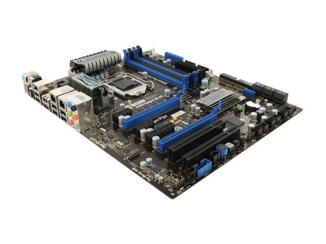 Msi p55-gd65 lga 1156 socket h intel motherboard + cables + manual.