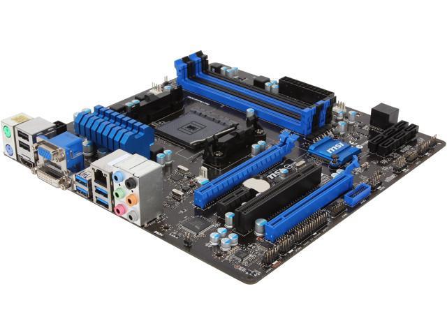 MSI A88XM-E45 FM2+ / FM2 Micro ATX AMD Motherboard - Newegg com