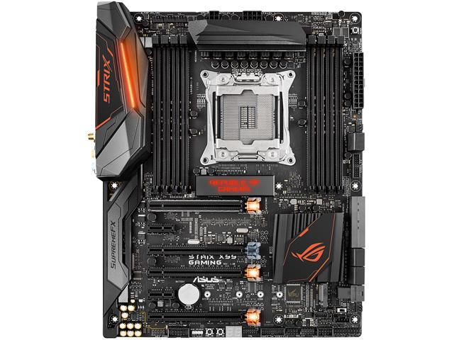 ASUS ROG STRIX X99 GAMING/RGB STRIP with Aura RGB Strip by DeepCool LGA 2011-v3 DDR4 M.2 U.2 X99 ATX Motherboard with Onboard AC Wi-Fi and USB 3.1