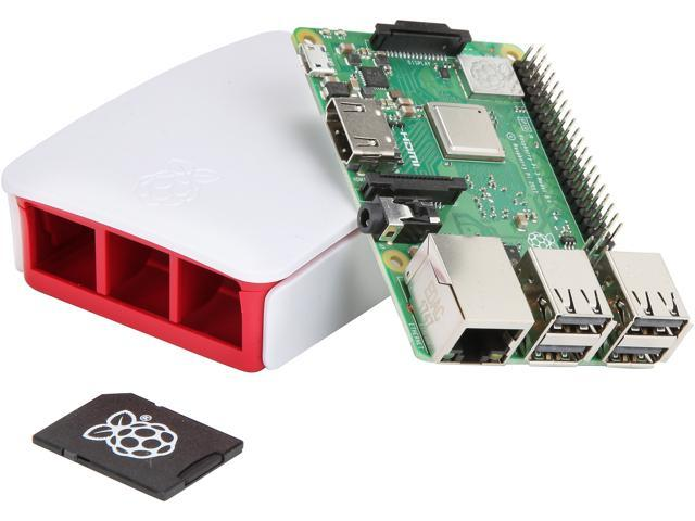 Raspberry Pi 3 Model B+ Complete Starter Kit, Official Case and PSU  Included - Newegg com