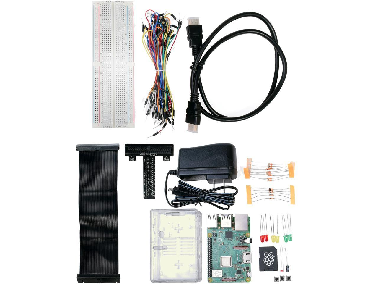 Raspberry Pi 3 Model B+ Physical Computing Kit - Newegg com