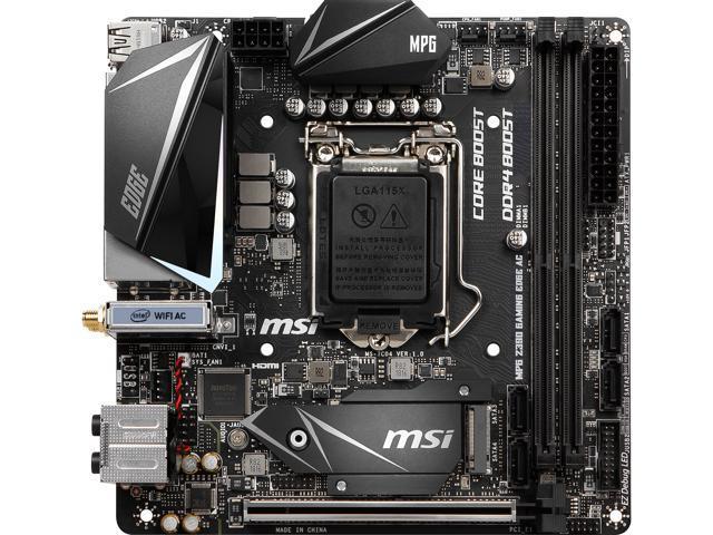 MSI MPG Z390I GAMING EDGE AC LGA 1151 (300 Series) Mini ITX Intel  Motherboard - Newegg com