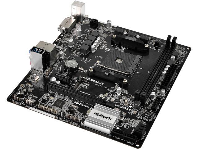 ASRock A320M-DGS AM4 AMD Promontory A320 SATA 6Gb/s USB 3.1 Micro ATX Motherboards - AMD