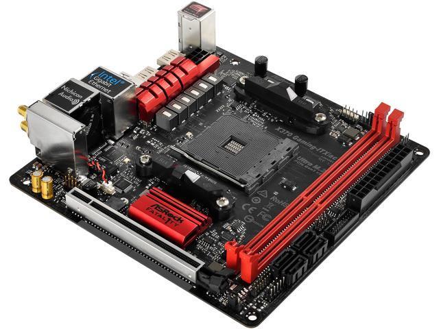 ASRock Fatal1ty X370 Gaming-ITX/ac AM4 Mini ITX AMD Motherboard - Newegg com