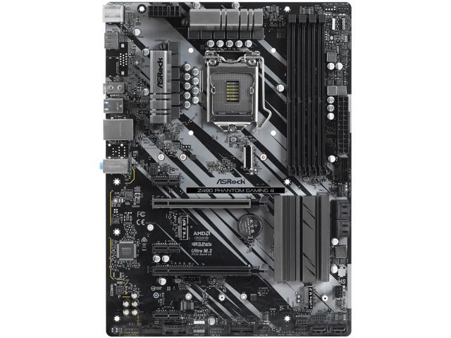 ASRock Z490 Phantom Gaming 4 LGA 1200 Intel Z490 SATA 6Gb/s ATX Intel Motherboard