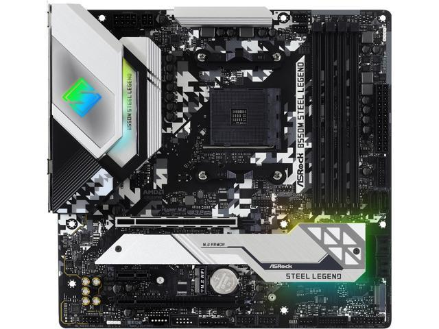 ASRock B550M STEEL LEGEND AM4 AMD B550 SATA 6Gb/s Micro ATX AMD Motherboard