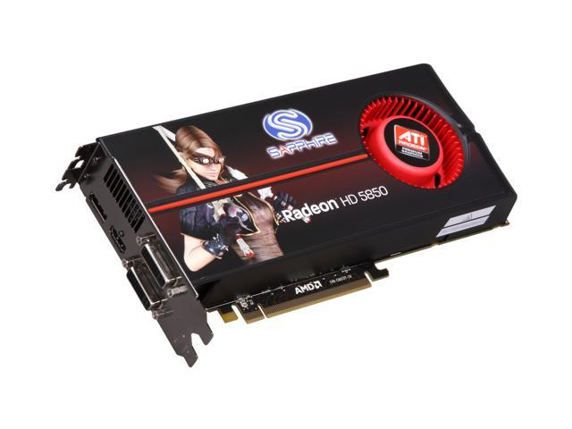SAPPHIRE 100282SR Radeon HD 5850 1GB 256-bit GDDR5 PCI Express 2.0 x16 HDCP Ready CrossFire Supported Video Card w/ATI Eyefinity