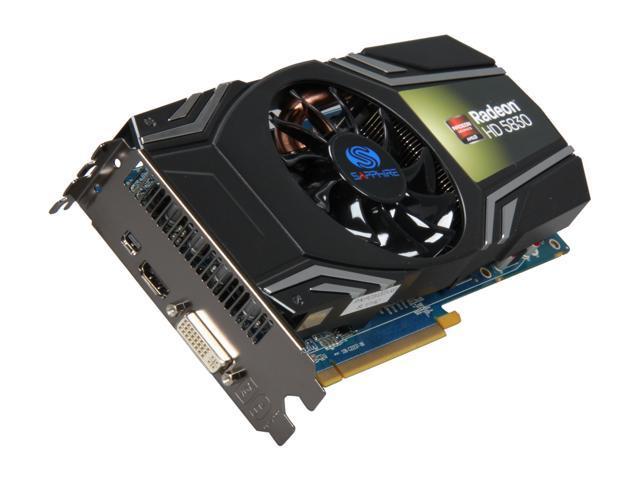SAPPHIRE Radeon HD 5830 DirectX 11 100297L 1GB 256-Bit GDDR5 PCI Express  2.1 x16