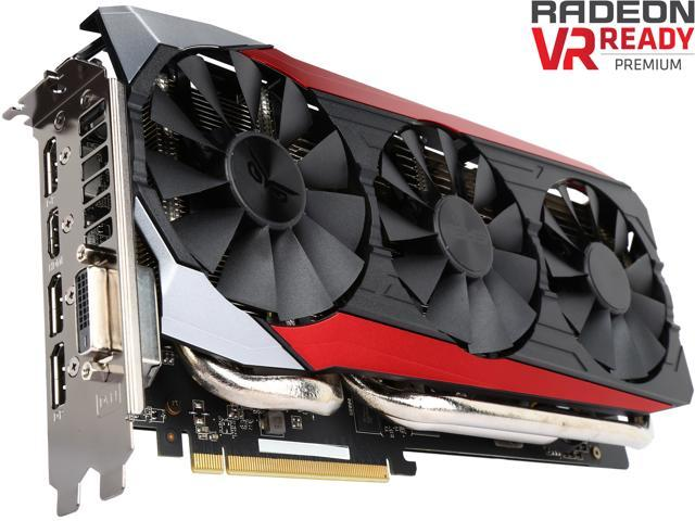 Used - Like New: ASUS Radeon R9 390X DirectX 12  STRIX-R9390X-DC3OC-8GD5-GAMING Video Card - Newegg com