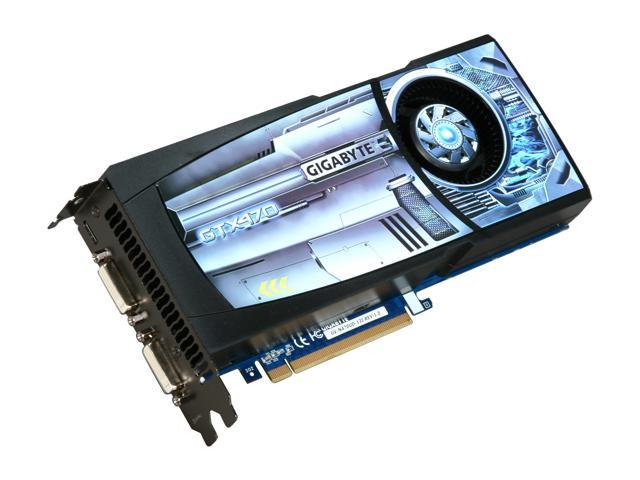 GIGABYTE GeForce GTX 470 (Fermi) DirectX 11 GV-N470UD-13I 1280MB 320-Bit GDDR5 PCI Express 2.0 x16 HDCP Ready SLI Support Video Card