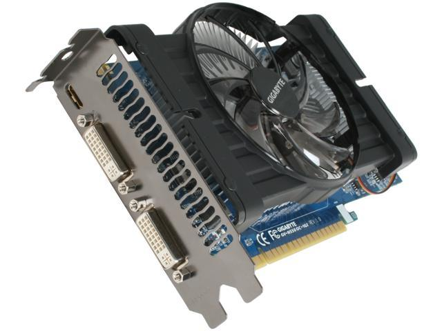 GIGABYTE GeForce GTX 550 Ti (Fermi) DirectX 11 GV-N550OC-1GI 1GB 192-Bit GDDR5 PCI Express 2.0 x16 HDCP Ready SLI Support Video Card