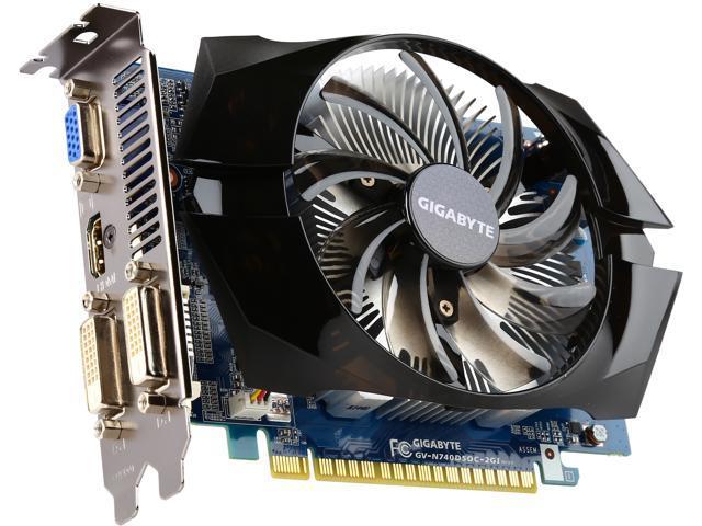 GIGABYTE GeForce GT 740 2GB 100mm FAN OC EDITION Newegg