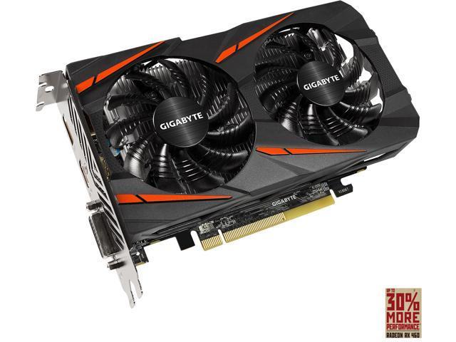 GIGABYTE Radeon RX 460 WINDFORCE OC 2GB GV-RX460WF2OC-2GD - Newegg com